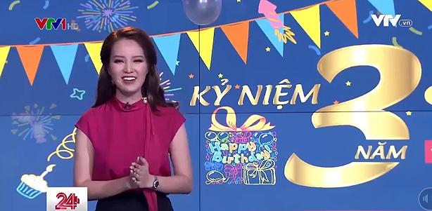 The program host Thuy Van