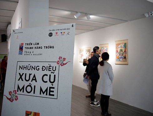 """Hang Trong folk painting exhibition """"The New Classics""""is at Dong A Gallery at 115 Nguyen Thai Hoc street (Photo: baomoi.com)"""