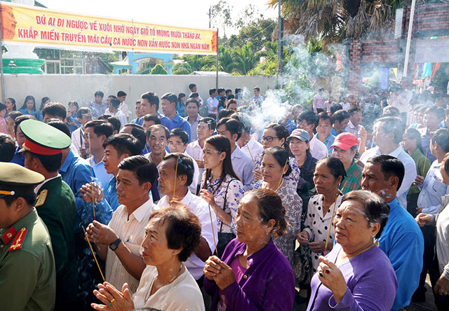 Also on Wednesday, the southernmost province of Ca Mau hosts a ceremony to pay tribute to the nation's legendary founders at the Hung Kings' Temple in Thoi Binh district.