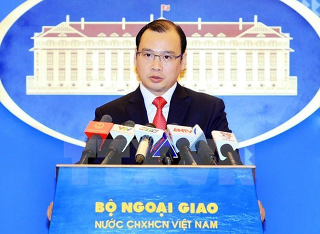 Spokesperson for the Foreign Ministry Le Hai Binh (Credit: VNA)