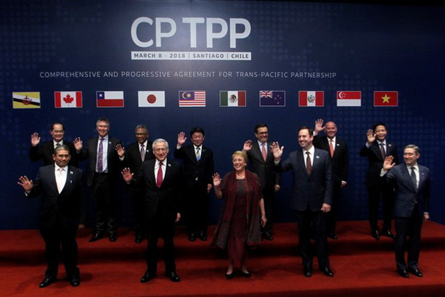 Representatives from 11 member countries gather in Santiago, Chile, Thursday afternoon (local time) to sign the CPTPP trade pact.