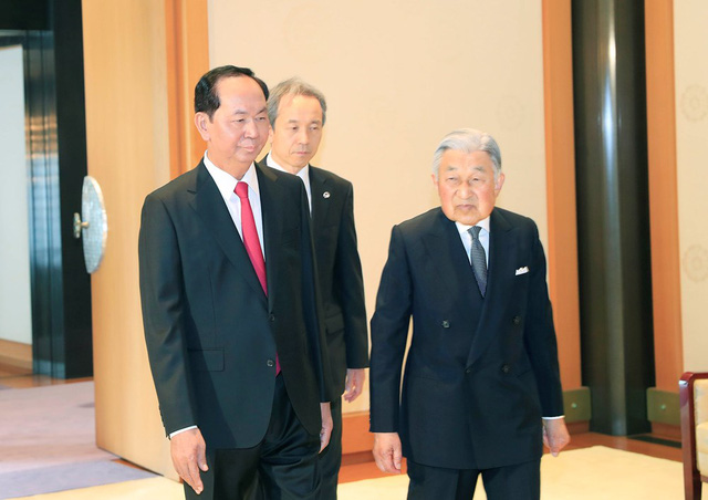 President Tran Dai Quangs visit is made at the invitation of the State of Japan (Photo: VNA)