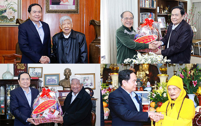 President of the Vietnam Fatherland Front (VFF) Central Committee Tran Thanh Man visited and sent best wishes to former Party and State leaders and Most Venerable Thich Pho Tue, who is the patriarch of the Vietnamese Buddhist Congregation