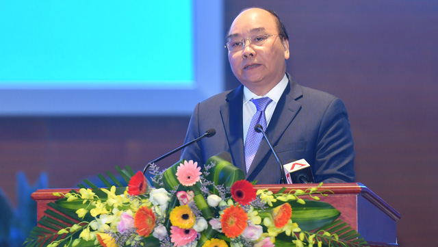 Prime Minister Nguyen Xuan Phuc addresses the ceremony. (Photo: VGP)