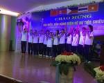 Các nữ tuyển thủ Việt Nam khoe giọng với bài hát chính thức của VTV Cup