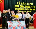 Bàn giao tàu vỏ thép đầu tiên cho ngư dân Quảng Nam