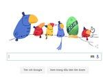 Google thay doodle chờ đón năm mới 2016