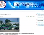 Lào: Tiếp cận hiện trường máy bay Mi-17 gặp nạn