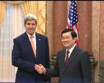 Chủ tịch nước Trương Tấn Sang tiếp Ngoại trưởng Mỹ John Kerry