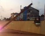 Rơi thanh sắt tại công trìnhđường sắt trên cao tuyếnNhổn - Ga Hà Nội