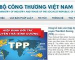 Bộ Công Thương công bố toàn văn Hiệp định TPP