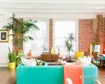 Xóa tan ảm đạm cho căn nhà gạch bằng sắc màu nhiệt đới