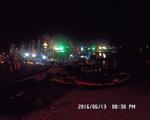 Bình Thuận: Hàng chục tàu thuyền bất ngờ bị lũ cuốn ra biển
