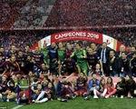 Barcelona vô địch Cup nhà Vua TBN trong trận đấu 3 thẻ đỏ và 14 thẻ vàng