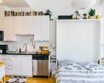 Độc đáo căn hộ không cần phòng ngủ vẫn có chỗ đặt giường êm