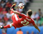 VIDEO EURO 2016: Siêu phẩm tung người móc bóng ghi bàn của Shaqiri (Thụy Sĩ)