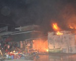 Quảng Trị: Cháy chợ Ngã Tư Sòng, nhiều hàng hóa bị thiêu rụi