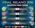 Bốc thăm tứ kết Champions League: Barcelona đụng độ Atletico, Real dễ thở