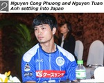 Công Phượng, Tuấn Anh xuất hiện nổi bật trên trang chủ J.League