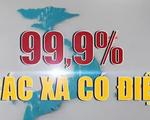 99,9 số xã trên cả nước có điện lưới quốc gia