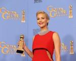 Jennifer Lawrence rinh tượng Quả cầu vàng thứ ba