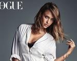 """""""Thiên thần"""" Jessica Alba đẹp gợi cảm trên tạp chí Vogue"""