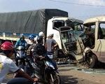 Xe khách đấu đầu xe tải, 3 người tử vong