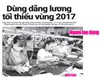 Dùng dằng vấn đề tăng lương tối thiểu vùng 2017