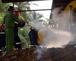 Trà Vinh: Cháy lớn tại cơ sở sản xuất than trấu
