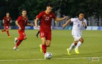 ẢNH: Tiến Linh lập hat-trick, Quang Hải lập công, U22 Việt Nam thắng 6-1 U22 Lào