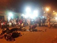TP Huế: 5 xe máy gây tai nạn liên hoàn trong đêm