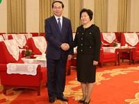 Bộ trưởng Trần Đại Quang thăm TP Thiên Tân (Trung Quốc)