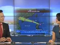 Ngày 15/9, diễn biến bão Kalmaegi nhanh, mưa sẽ dồn dập