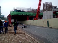 Cận cảnh vụ tai nạn nghiêm trọng ở công trình đường sắt trên cao