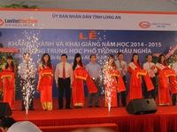Chủ tịch nước dự khai giảng năm học mới tại Long An
