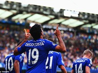 Diego Costa bất ngờ bình phục và trở lại trong trận Everton - Chelsea