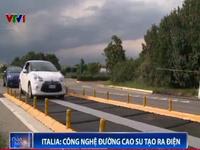 Độc đáo công nghệ đường cao su tạo ra điện tại Italy