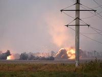 Nổ lớn gần thành phố Mariupol, xe tăng Ukraine phải can thiệp