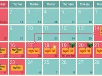 Đề xuất nghỉ 9 ngày dịp Tết Nguyên đán Ất Mùi
