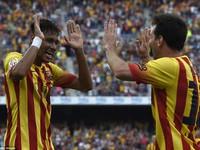 Barcelona 2-0 Athletic Bilbao: Messi chuyền bóng và Neymar ghi bàn