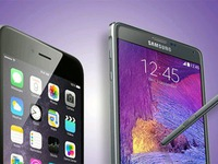 "iPhone 6 Plus ""so tài"" cùng Samsung Galaxy Note 4"