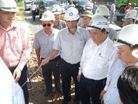 Phó Thủ tướng Nguyễn Xuân Phúc kiểm tra tiến độ dự án QL1 tại Khánh Hòa