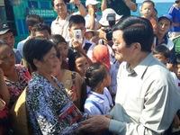 Chủ tịch nước thăm xã đảo Thổ Chu, Kiên Giang