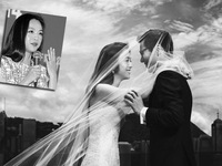 Thang Duy hạnh phúc khoe nhẫn cưới ở LHP Busan