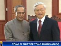 Tổng Bí thư Nguyễn Phú Trọng tiếp Tổng thống Ấn Độ