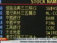 Chứng khoán châu Á chao đảo do bất ổn ở Hong Kong