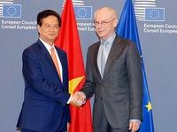 Thủ tướng Nguyễn Tấn Dũng hội kiến Chủ tịch Hội đồng châu Âu