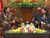 Phó Chủ tịch Quốc hội Tòng Thị Phóng tiếp Phó Chủ tịch Hội đồng Nhà nước Cuba