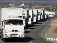 Ukraine phản đối đoàn xe cứu trợ nhân đạo thứ ba của Nga