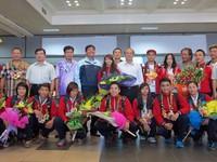 ASIAD 17: Wushu Việt Nam rạng ngời niềm vui chiến thắng ngày trở về